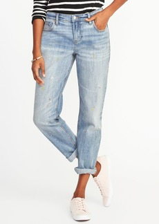 Painted Boyfriend Straight Jeans for Women