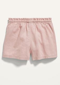 Old Navy Paperbag-Waist Linen-Blend Shorts for Toddler Girls