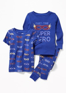"""Old Navy """"Part-Time Super Hero"""" 3-Piece Sleep Set for Toddler & Baby"""