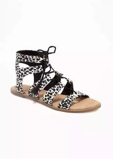 Old Navy Animal-Print Gladiator Sandals for Women