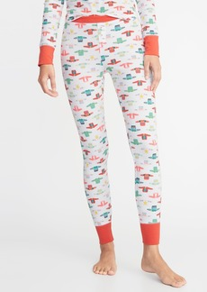 0fd3b02589 Old Navy Patterned Thermal-Knit Sleep Leggings for Women