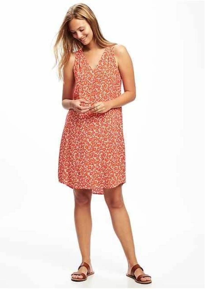 Old Navy Patterned V-Neck Shift Dress for Women