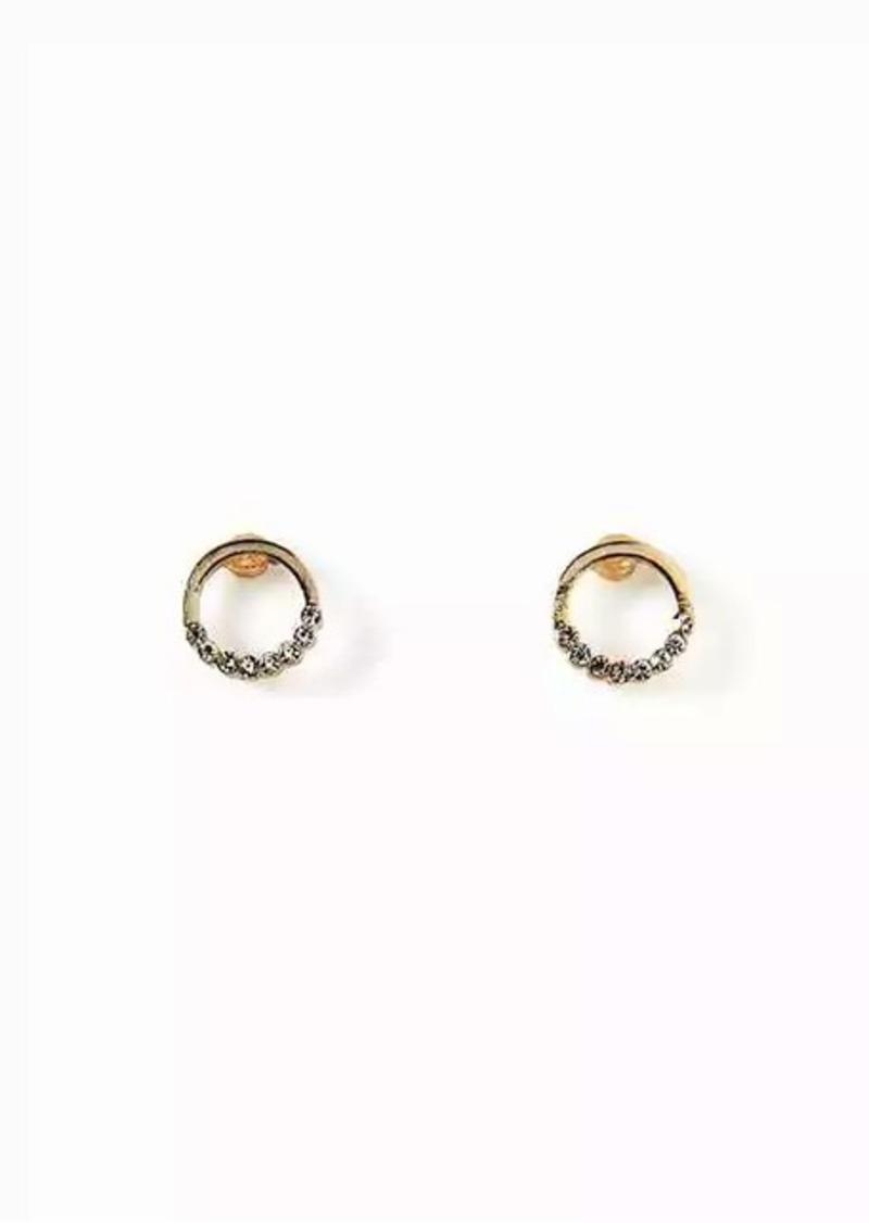 c5563347f7d02 Pavé Circle Stud Earrings for Women