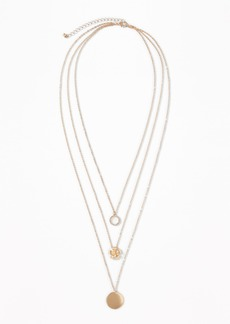 Old Navy Pavé-Disc Layered Necklace for Women