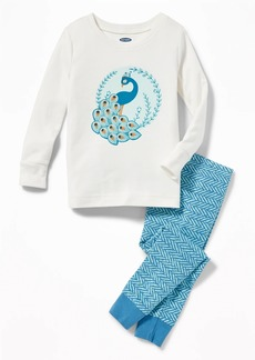 Old Navy Peacock-Graphic Sleep Set for Toddler Girls & Baby