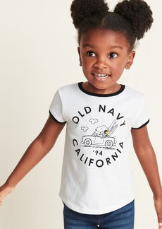 """Peanuts&#174 """"Old Navy California"""" Ringer Tee for Toddler Girls"""