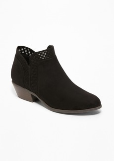 Old Navy Perforated Sueded Low Booties for Women