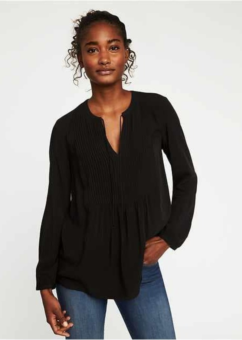 cc2eb6c8dd145 Old Navy Pintuck Swing Blouse for Women