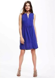 Pintuck Swing Dress for Women