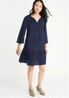 Pintuck Swing Dress for Women