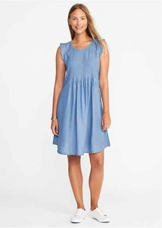 Pintuck Tencel&#174 Swing Dress for Women
