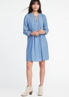 Pintuck Tencel&#174 Swing Dress for Women