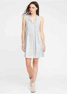 Pintuck Tie-Neck Tencel&#174 Swing Dress for Women