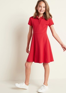 Old Navy Pique-Knit Uniform Polo Short-Sleeve Dress for Girls