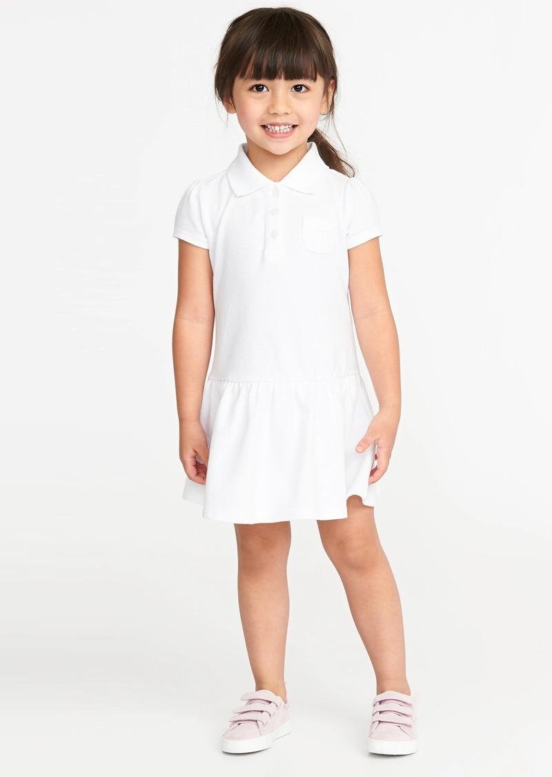 Old Navy Pique Uniform Polo Dress for Toddler Girls