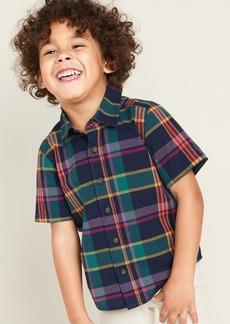 Old Navy Plaid Poplin Shirt for Toddler Boys