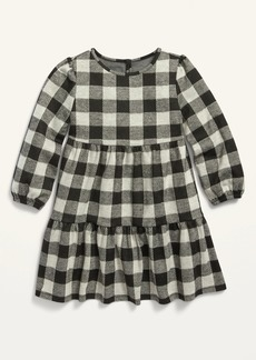 Old Navy Plaid Tiered Swing Dress for Toddler Girls