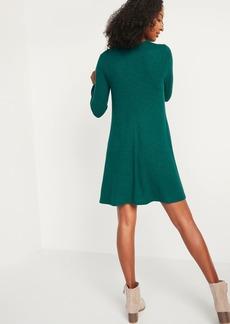 Old Navy Plush-Knit Long-Sleeve Swing Dress for Women