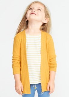 Old Navy Plush-Knit Open-Front Sweater for Toddler Girls