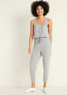 Old Navy Plush-Knit Sleeveless Lounge Jumpsuit for Women