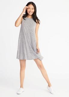 Plush-Knit Sleeveless Swing Dress for Women