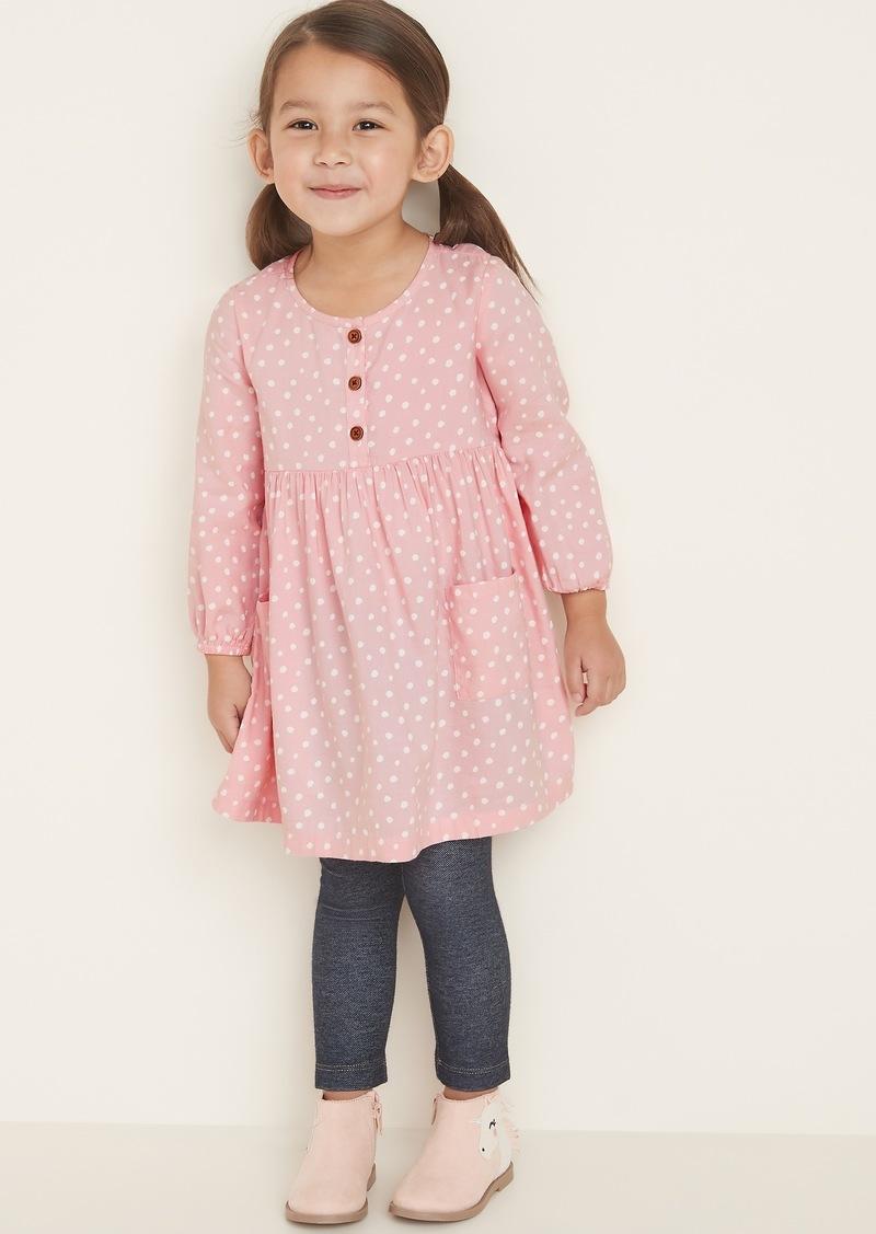 Old Navy Polka-Dot Henley Swing Dress for Toddler Girls