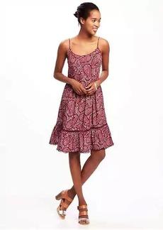 Pom-Pom-Trim Swing Dress for Women
