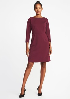 Old Navy Ponte-Knit 3/4-Sleeve Sheath Dress for Women