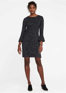Ponte-Knit Ruffle-Sleeve Shift Dress for Women