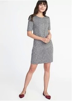 Ponte-Knit Shift Dress for Women