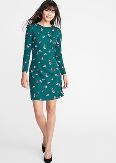 Old Navy Ponte-Knit Shirred-Sleeve Sheath Dress for Women