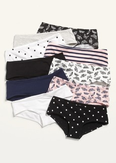 Old Navy Printed 10-Pack Hipster Underwear for Girls