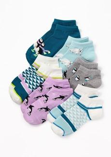 Old Navy Printed Ankle Socks 6-Pack for Girls