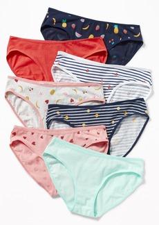 Old Navy Printed Bikini Underwear 7-Pack for Girls
