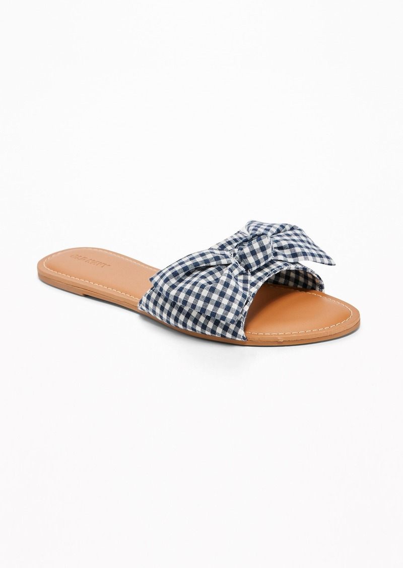 9a6b7a1e5e6 Old Navy Printed Bow-Tie Slide Sandals for Women Now  14.97