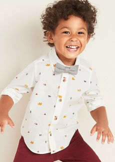 Old Navy Printed Built-In Flex Shirt & Bow-Tie Set for Toddler Boys