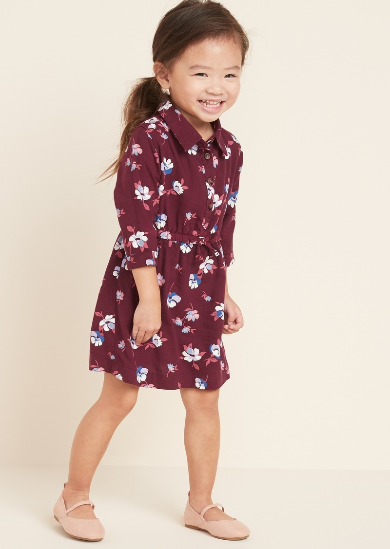 Old Navy Printed Cinched-Waist Shirt Dress for Toddler Girls