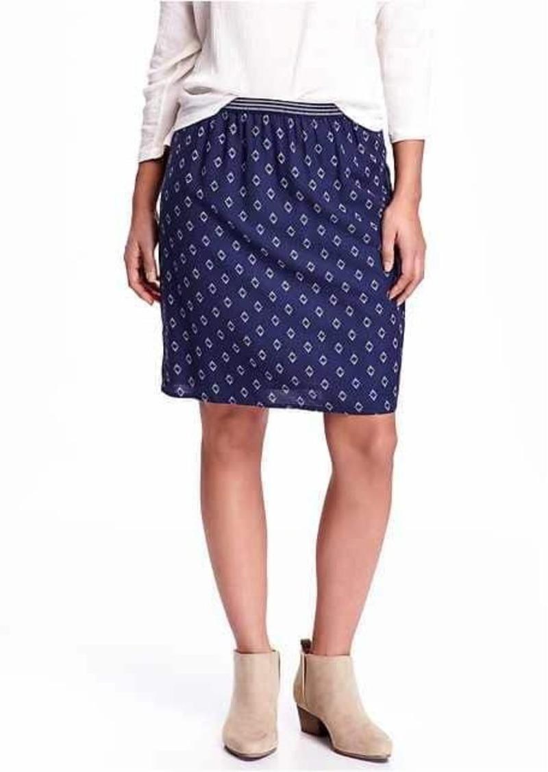 Old Navy Printed-Crepe Skirt
