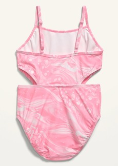 Old Navy Printed Cutout Swimsuit for Girls