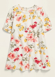 Old Navy Printed Elbow-Sleeve Swing Dress for Toddler Girls