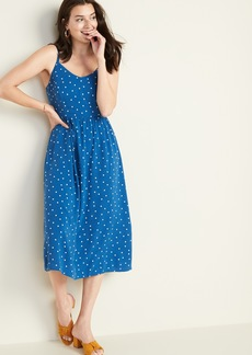 Old Navy Printed Fit & Flare Cami Midi for Women