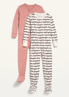 Old Navy Unisex Printed Footie Pajama One-Piece 2-Pack for Toddler & Baby