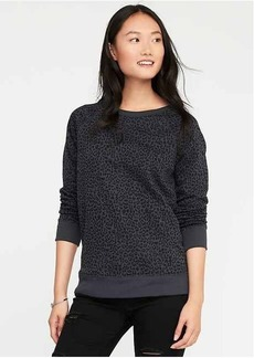 Printed French-Terry Sweatshirt for Women