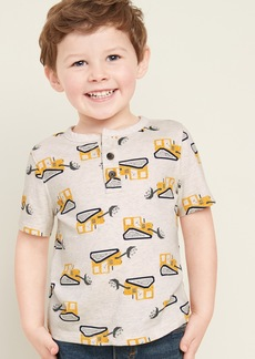 Old Navy Printed Jersey Henley for Toddler Boyss