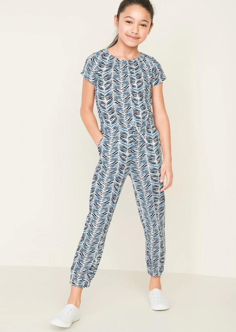 Old Navy Printed Jersey Jumpsuit for Girls