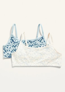 Old Navy Printed Jersey-Knit Cami Bra 2-Pack for Girls