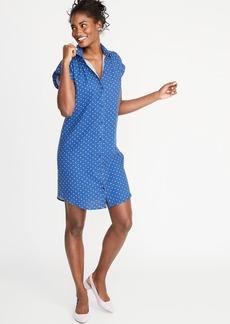 9b7e5cfa762e Old Navy Printed Linen-Blend Shirt Dress for Women