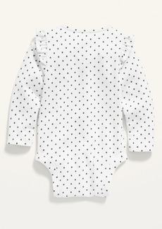 Old Navy Unisex Printed Long-Sleeve Plush-Knit Bodysuit for Baby