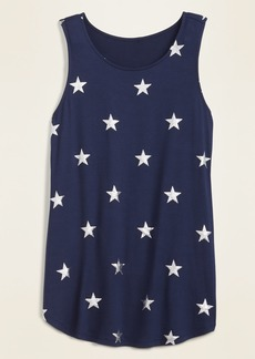 Old Navy Printed Luxe High-Neck Tank Top for Women