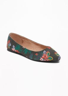 Old Navy Printed Pointy-Toe Ballet Flats for Women